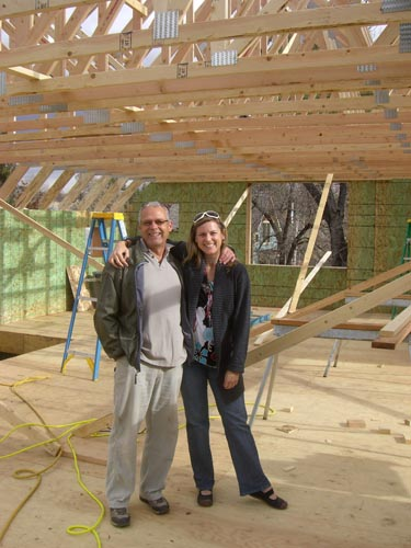 Anne with Richard Charlesworth, our wonderful architect