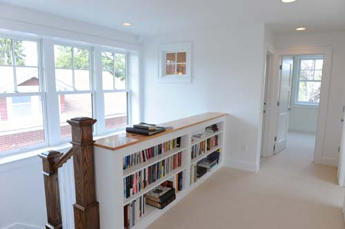 Upstairs Landing - Anne's first act was to unpack the books